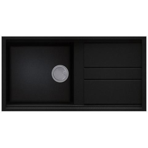 Image of Best 480 Lavello da Incasso 1 Vasca con Gocciolatoio Dimensioni 100 x 51 cm Colore K100 Kuro