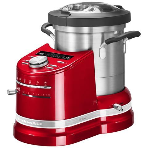 Cook Processor Artisan Robot da Cucina Potenza 1500 Watt Capacità 4.5 Litri 5KCF0103ECA Colore Rosso Mela Metallizzato