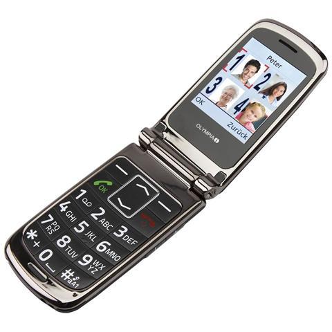 "Olympia Style Plus Senior Phone Dual Sim Display 2.4"" Micro SD Bluetooth con Tasti Grandi + SOS Fotocamera Colore Nero"