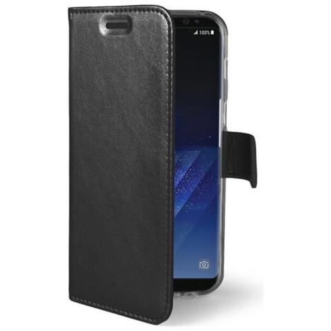 CELLY Flip Cover Custodia Air per Galaxy S8 - Nero