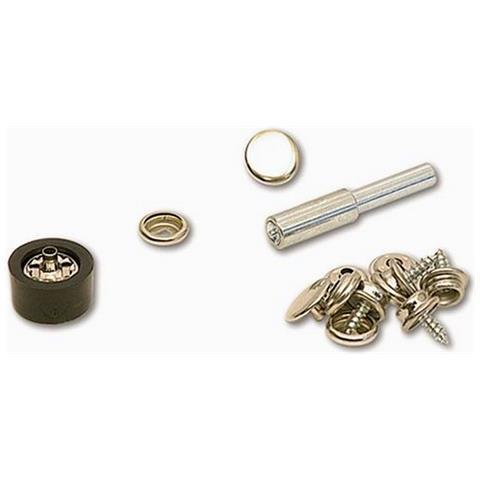 Kit Per Bottoni A Pressione (set Da 8) (taglia Unica) (argento)