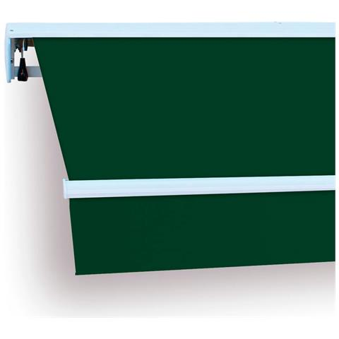 Btk420023-e Tenda Da Veranda Struttura In Alluminio 4x2,5 M Verde Avvolgibile