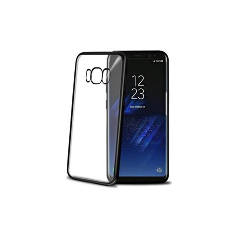 CELLY Cover Laser in TPU per Samsung Galaxy S8 Colore Nero / Trasparente