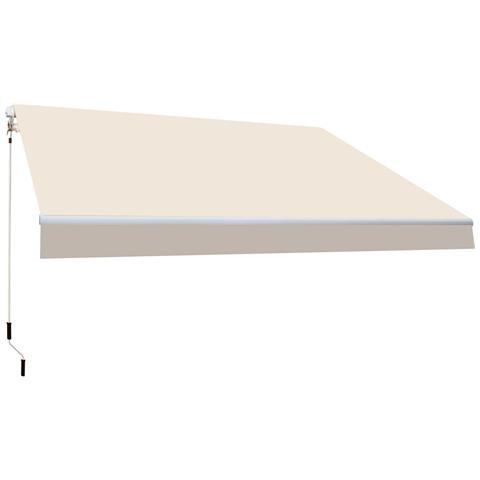 Btk420022-e Tenda Da Veranda Struttura In Alluminio 4x2,5 M Crudo Avvolgibile