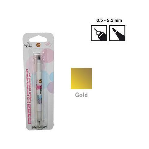 Pen Pro06 - Pennarello Bi-punta Alimentare Oro