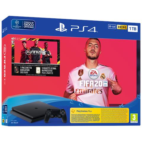 SONY [ Ricondizionato GOLD] Console PS4 Slim 1 TB + FIFA 20 Limited Bundle