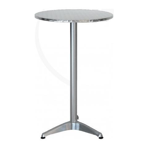 Tavolo Leon Rotondo In Acciao Con Gamba Centrale diametro 60Cm