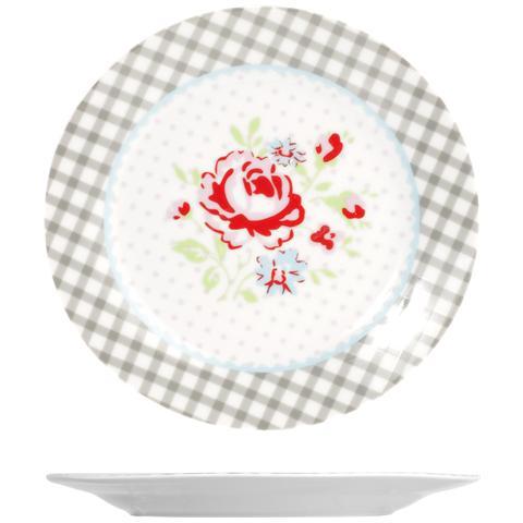 H&H Set 6 Piatti Porcellana Josephine Frutta Cm19 Stoviglie