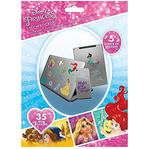 PYRAMID INTERNATIONAL Disney - Kit Di 35 Adesivi Principesse Ts7402, Multicolore