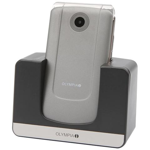 "Olympia Style Plus Senior Phone Dual Sim Display 2.4"" Micro SD Bluetooth con Tasti Grandi + SOS Fotocamera Colore Argento"