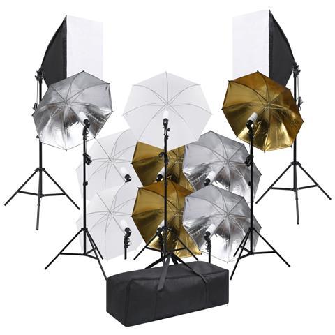 Kit Per Studio Fotografico Con Set Illuminazione E Softbox