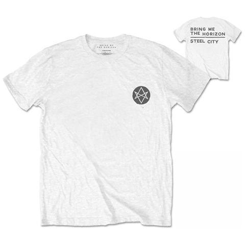 ROCK OFF Bring Me The Horizon - Back Print Distorted White (T-Shirt Unisex Tg. L)