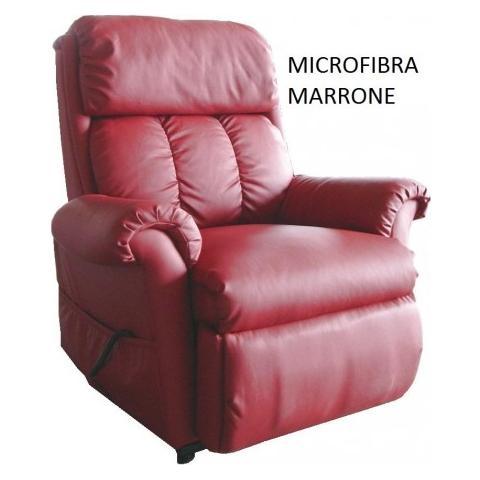 Casa ABC Poltrona Nadia Microfibra Marrone Massaggiante Con Funzione di Alzata In Piedi Elettrica