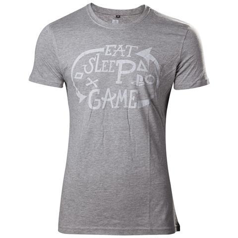 BIOWORLD Playstation - Eat Sleep Game Repeat (T-Shirt Unisex Tg. M)