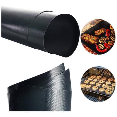 MWS Set Da 3 Tappeti Griglia 40 X 33 Cm Forno E Barbecue 3582 Antiaderente