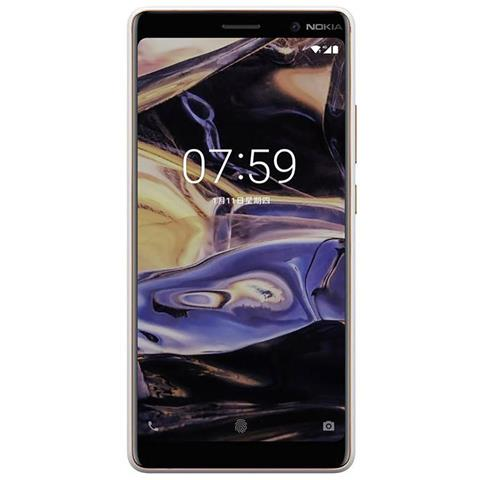 "NOKIA 7 Plus Bianco 64 GB 4G / LTE Dual Sim Display 6"" Full HD Slot Micro SD Fotocamera 16 Mpx Android Europa"