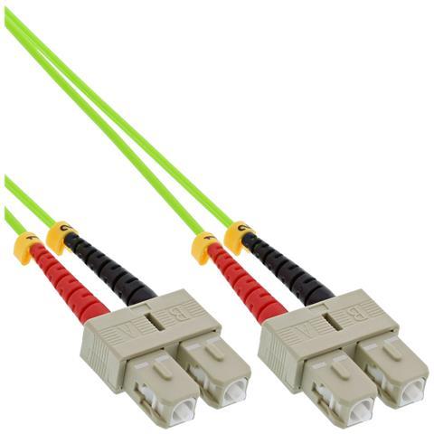 83525Q 25m 2x SC 2x SC Verde cavo a fibre ottiche