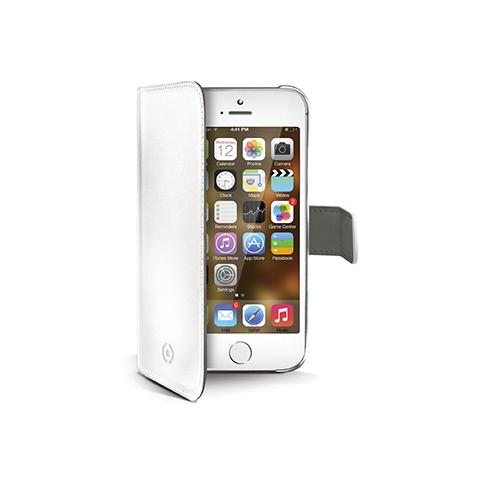 CELLY white pu wallet case iphone 5/5s