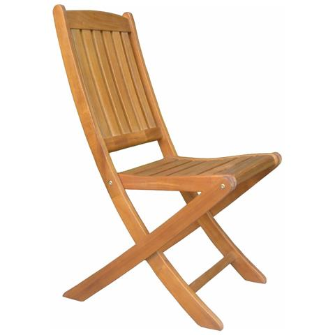 Sedia In Legno Di Acacia Pieghevole