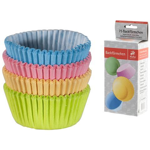 Pasabahce Confezione 75 Pirottini Cm 5 Colori Assortiti Pasticceria