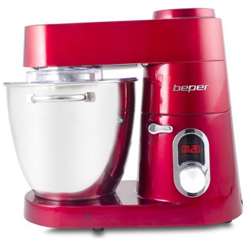 Impastatrice Professionale 90.701 Capacità 7 L Potenza 1200 W Colore Rosso / Argento