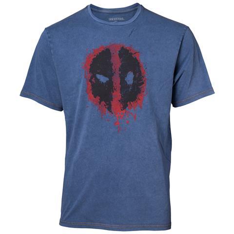 BIOWORLD Deadpool - Faux Denim Multicolor (T-Shirt Unisex Tg. S)