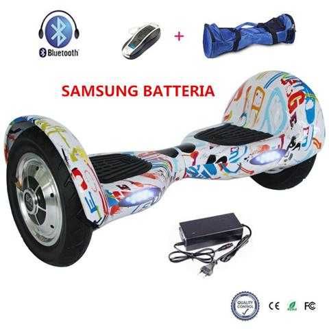 Image of 10 Pollici Hoverboard Smart Balance Monopattino Elettrico Pedana Scooter Bluetooth Due Ruote Con Samsung Batteria Graffiti