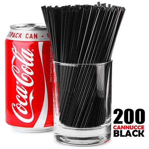 Cannucce Bar Nere 200 Pezzi In Display Box Lunghezza 20cm Colore Nero Black