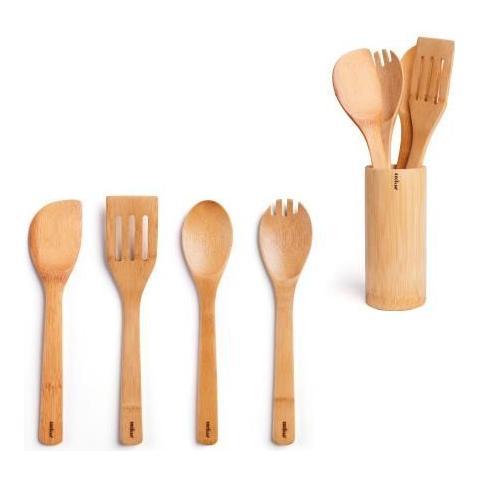 EXCELSA Confezione Portautensili + 4 Utensili Cucina
