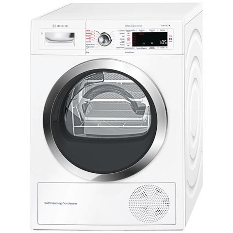Image of Asciugatrice A Condensazione WTW855R8IT Con Pompa Di Calore 8 kg Classe A++ Colore Bianco