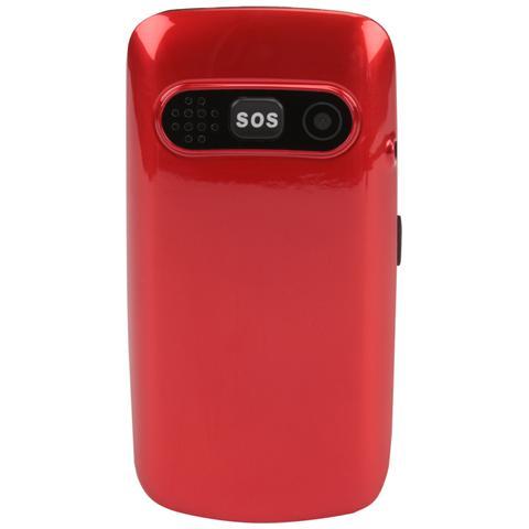"""Olympia Primus Senior Phone Display 2.4"""" Micro SD Bluetooth con Tasti Grandi + SOS Colore Rosso"""