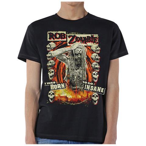 ROCK OFF Rob Zombie - Born To Go Insane (T-Shirt Unisex Tg. L)
