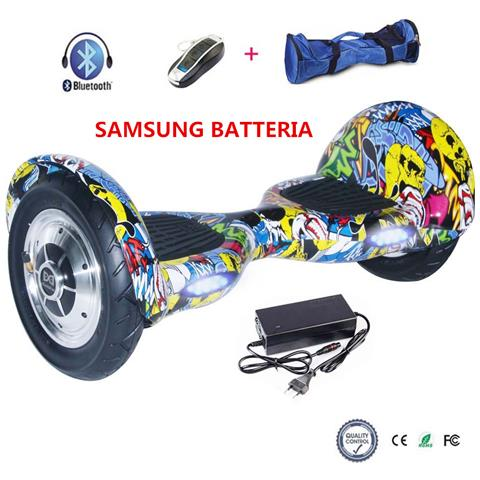 Image of 10 Pollici Hoverboard Smart Balance Monopattino Elettrico Pedana Scooter Bluetooth Due Ruote Con Samsung Batteria Hip-hop