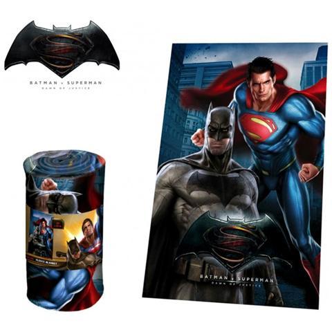 Batman Wa16030 Coperta In Morbido E Caldo Pile Vs Superman 100x150cm Plaid