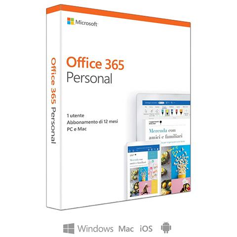 Office 365 Personal Licenza per 1 Anno per 1 Utente Versione Box Italiano