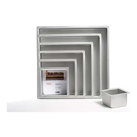 Teglia professionale anodizzata quadrata 25 x 25 h. 7,5cm