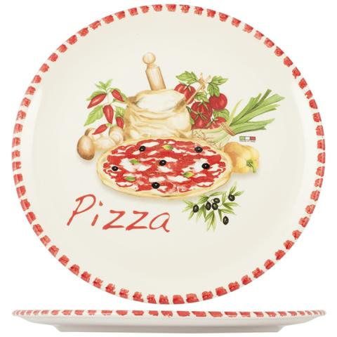 HOME Piatto Pizza Ceramica Cm34 Piatti Da Tavola