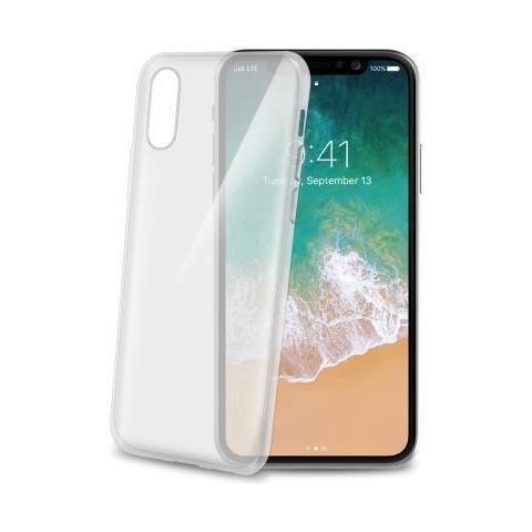 CELLY Cover in TPU per iPhone X Colore Trasparente
