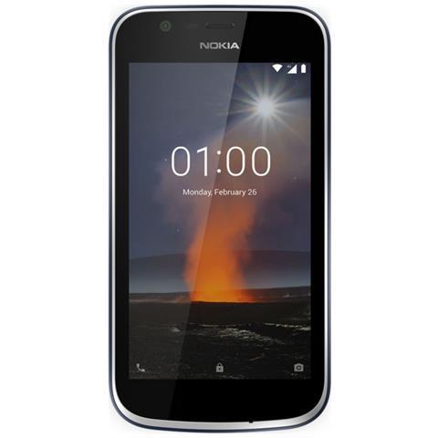 "NOKIA 1 Blu 8 GB 4G / LTE Dual Sim Display 4.5"" IPS Slot Micro SD Fotocamera 5 Mpx Android Italia"