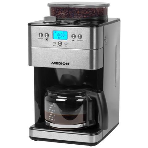MD 16893 Macchina Caffè Americano 10 Tazze Potenza 1000 Watt Colore Nero / Argento
