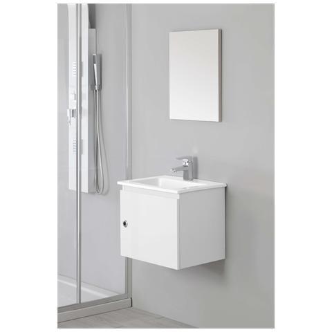 FERIDRAS - Mobile lavabo con specchio per bagno colore bianco ...