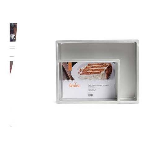 Teglia professionale anodizzata rettangolare 20 x 30 h. 7,5cm