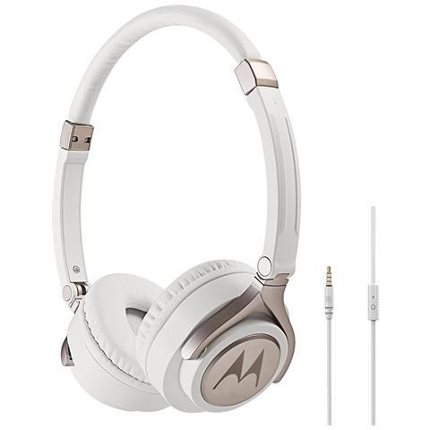 MOTOROLA Pulse 2 Padiglione auricolare Stereofonico Cablato Bianco auricolare per telefono cellulare
