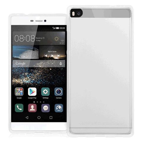 FONEX Pixel Cover Anti Urto 0,4 mm di Spessore in Morbido TPU con Retro Satinato per Huawei P8 Colore Trasparente