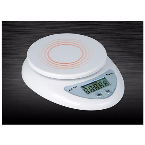Bilancia Da Cucina Digitale Precisione Da 1gr A 5kg Con Tasto Tara Display Lcd