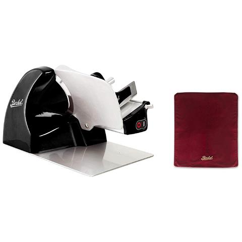 Image of Affettatrice Home Line 250 Nera + Cover Affettatrice Rossa