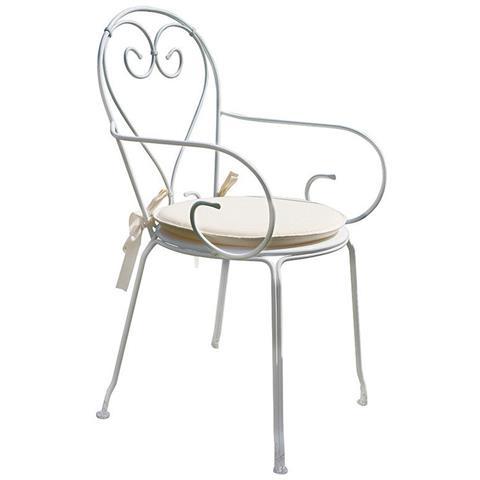 Set Quattro Sedie Per Esterni Con Braccioli Design Shabby Chic