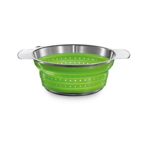 Scolapasta fresh green 24 cm pieghevole in silicone