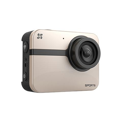 EZVIZ S1 Sport Camera Full HD 1080p Steadyshot Wi-Fi / Bluetooth Impermeabile Oro / Rosa + Selfie Stick