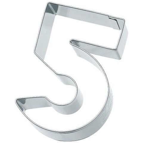 Tagliapasta Numero 5 In Metallo 6 Cm